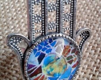 Hand of Fatima collection TRENCADÍS - AFTR01 ring