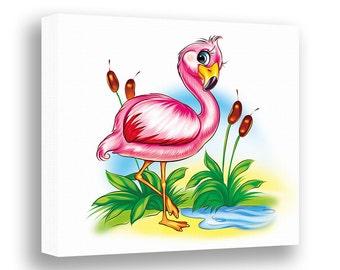 flamingo canvas | etsy