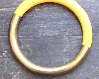 Vintage gold and yellow Bangle