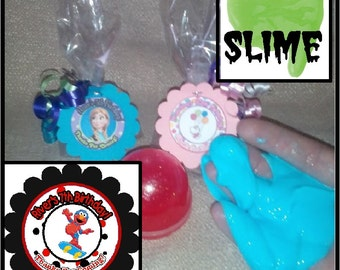 """Personalized Elmo (boy)  Surprise """"slime"""" Birthday Party Favors - set of 8"""