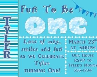 Fun to be ONE Birthday Invite