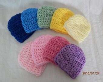 Crocheted Preemie/Newborn Hat