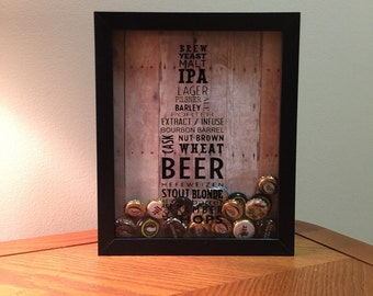 Beer Typography Shadow Box Art