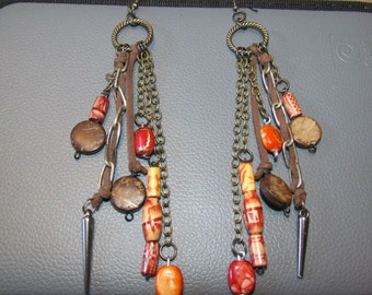 Boho Inspired Dangling Handmade Earrings