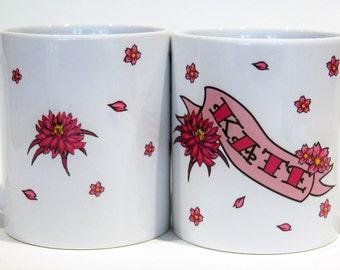 personalised mug  tattoo mug customised mug Kate gift for her by TattooMugLady mother's day gift