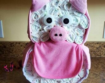Pig Diaper Cake