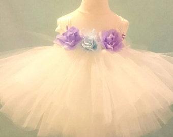 Flower Girl Dress, Bridesmaid Dress, Princess Dress, Flower Dress, Tutu Dress, Ivory Dress, Christening Dress For Baby Girl, Gift For Her,