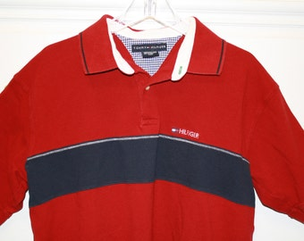Tommy Hilfiger Short Sleeve Polo Shirt Red XL