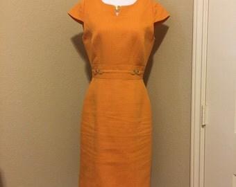 Tahari Orange Dress sz 6