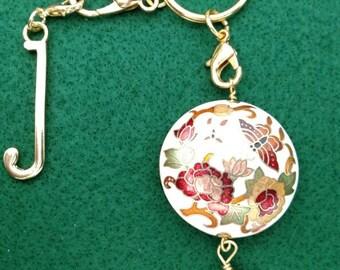 Cloisonne Key Chain, Purse Charm