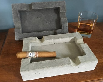 Concrete Cigar Ashtray, concrete ashtray, cigar ashtray, Gifts for men, Father's Day Gift, Anniversary Gift, Birthday Gifts, Groomsmen Gifts