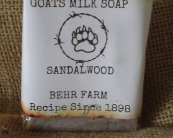 Sandalwood Goats Milk Bar Soap