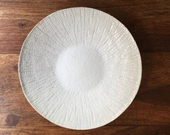 Hand made white dinner plate in Stoneware
