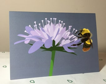 Bumblebee greeting card - blank inside