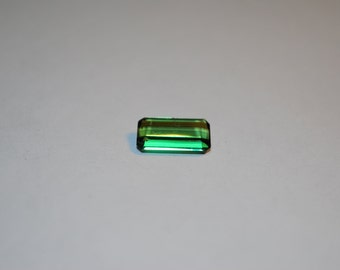 7.1 x 12.4 (2.85ct) Medium Green Emerald Cut Tourmaline Stone