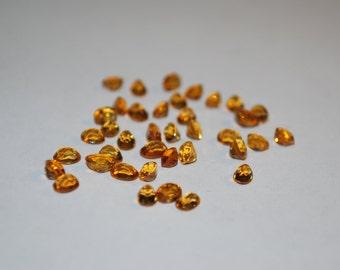 3.5 x 4.5 (0.24 ct.) Medium Yellow/Orange Oval Shape Citrine Stones