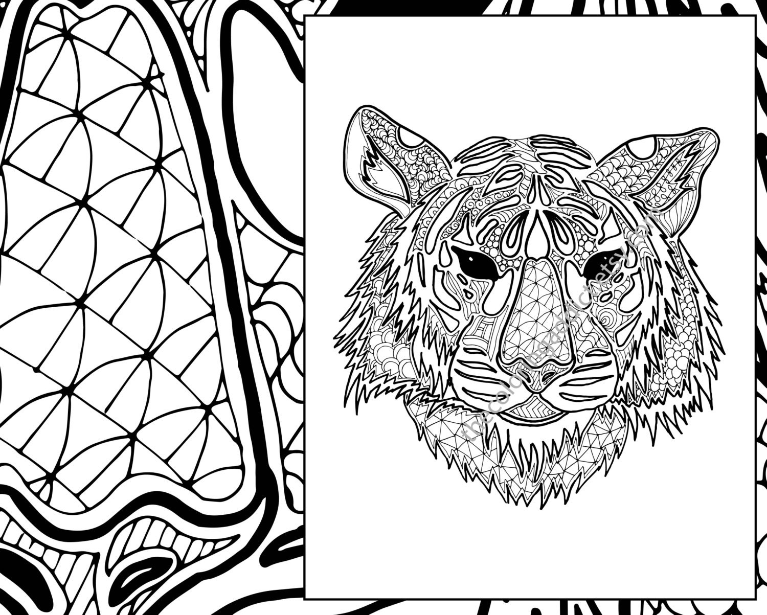 Coloring Pages Zentangle Animals : Animal zentangle colouring images