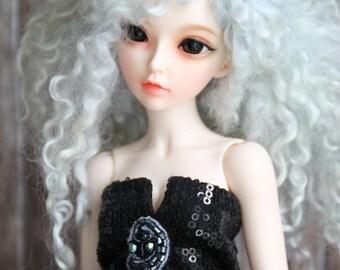 beautiful evening dress in black for fairyland Minifee 1.4 bjd ect [EID Iplehouse] ~ BJD Doll 40 cm / 15 inches