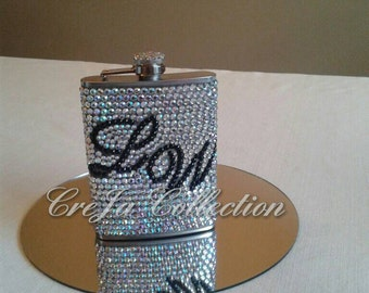 Girly Flask,Bling Flask, Bridal Flask, Flask For Women, Wedding Flask, Flask For Her, Pimp Cup, Girl Flask, Flask, Custom Flask, Sparkly