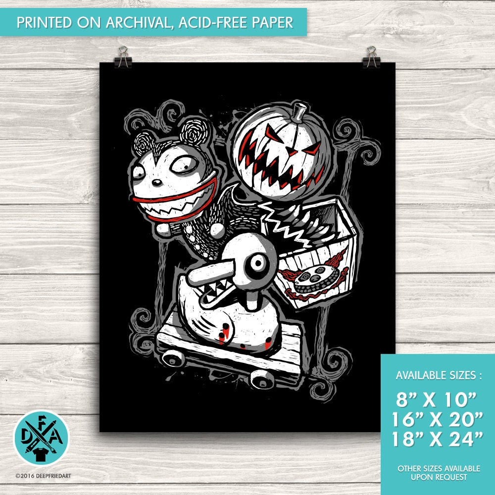 New The Nightmare Before Christmas Poster Art Print Matte