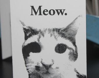 Meow Greeting Card