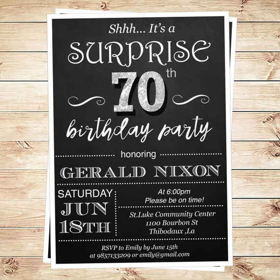 Surprise 50Th Birthday Party Invitations Templates was good invitation design