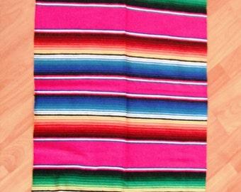 Great Mexican Blanket Sarape Sarepe Manta Cobija Several Colors Available 190 cms x 90 cms