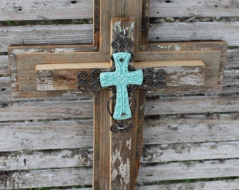 cross wall decor, CYPRESS wooden cross, rustic cross, reclaimed wood, 3 tier cross, unique wall cross, decorative cross handmade