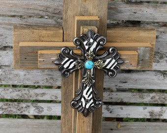 Rustic cross, cross wall decor, unique cross, wedding gift, religious cross, wall cross, reclaimed wood, wall decor, decorative wall cross