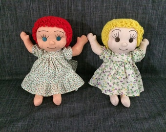 Vintage hand made cloth dolls