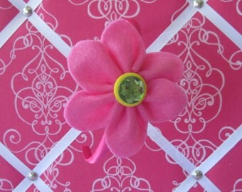 Hot Pink Felt Flower Head Band
