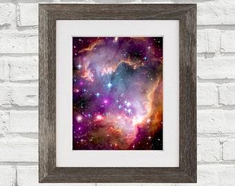 Space Wall Art Magellanic Cloud Stars Galaxy Nebula Print