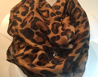 leopard scarf, leopard, buy 5 items from my shop n get one free n free shipping, contact me to get coupon code!