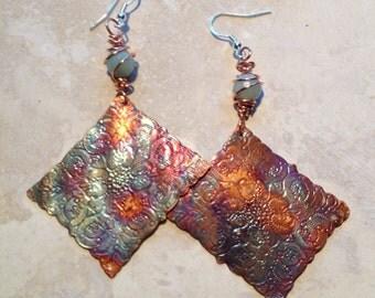 Amazonite on Copper Earrings