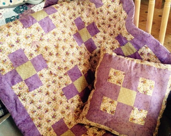 Adorable Lavender and Sage Baby quilt
