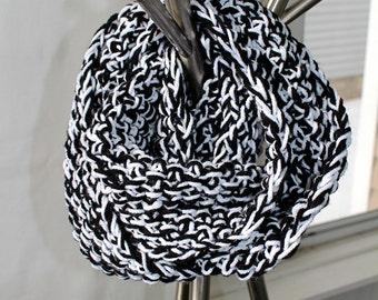 Black and White Loop Scarf