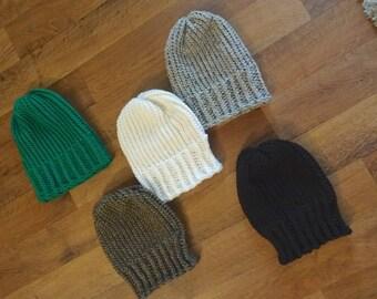 Men's Basic Knit Hat, Winter Hats, Men's Winter Accessories, Beanie Hats, Men's Beanies, Knit Hats