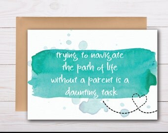 loss of mother or father - sympathy card, grief card, bereavement card