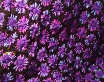 purple flower power afghan