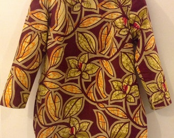 African print Tunic/ Blouse /Top