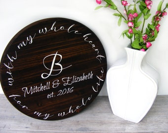 "Personalized Wedding Gift - 18"" - Anniversary Gift - Unique Wedding Gift - Wedding Shower Gift - Gift For Bride - Engagement Gift"