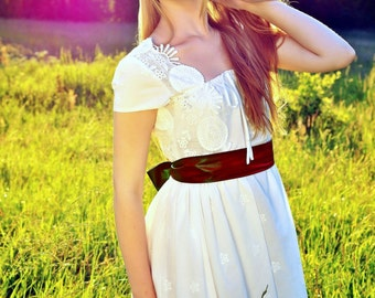 Cotton lace summer dress