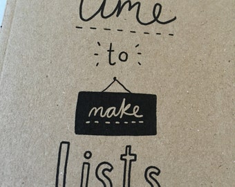 Time to make Lists Notebook