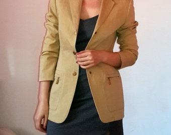 Laurel (Escada) Beige Sand Color Blazer Jacket