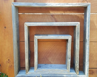 Set of 3 Reclaimed Wood Shelves