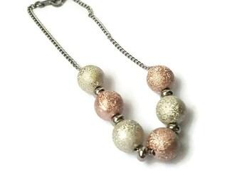 Bracelet Stardust stainless steel and aluminium beads