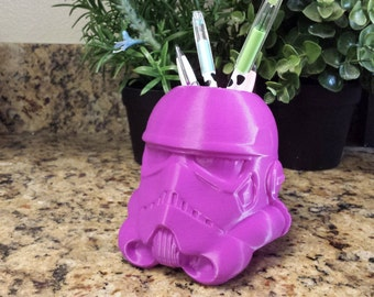 Storm Trooper Planter, Star Wars Planter, Succulent Planter, Air Planter and Pen Holder/Organizer Many Colors