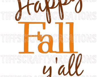 Thanksgiving svg, fall svg, happy fall yall, autumn clipart, happy fall monogram, happy fall files, happy fall cut file, happy fall svg
