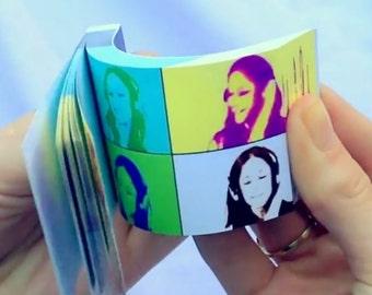 Your SELFIE VIDEO FLIPBOOK - Custom Printed