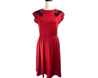 Womens Sue & Lenny Red Vintage Dress 9 S